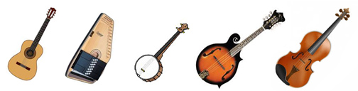 Musical Instruments in Banner Format